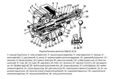 Редуктор пускового двигателя (РПД) СМД-18, ПОД НОВЫЙ, фото 2