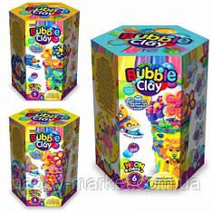 "Маса для ліплення кулькова ""BUBBLE CLAY ВАЗА"" BBC-V набір (6кол,кристал,стакан,стрічка,палички)"