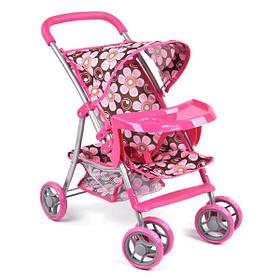 Коляска для кукол прогулочная игрушечная детская Розовая (59276)