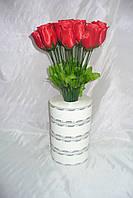 Роза бутон, 5 расцветок, 40 см (100 шт в упаковке)