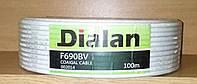 Коаксиальный кабель Dialan F 690 BV white (Бухта 100м)