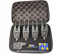 Набор электронных сигнализаторов Sams Carp Pro 4+1 с пейджером в кейсе Hirisi аналог Escol WRS
