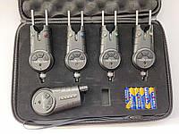 Набор электронных сигнализаторов поклевки 4+1 Sams Fish SF24199 с пейджером в кейсе