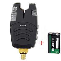 Сигнализатор поклевки WEIDA 210 Yellow Желтый + крона