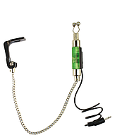 Свингер на цепочке Kaida Carp Green с подключением к сигнализатору