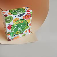 Аодзиру с молочнокислыми бактериями и ферментами с фруктовым вкусом YUWA Aojiru Fruits (20 стиков)