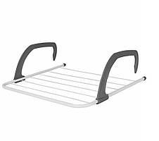 Cушилка для белья на батарею Fold Clothes Shelf TL00143-XXL 68х40 см Серая, сушка для вещей (NS)