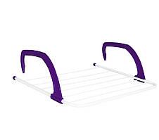Навесная сушилка для белья Fold Clothes Shelf TL00143-XXL 68х40 см Фиолетовая, сушка на батарею (NS)