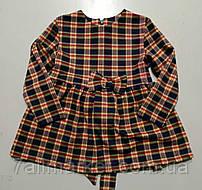 """Платье  детское байковое в клетку на девочку 98-122 см (2цв) """"VANILLA"""" оптом в Одессе на 7км"""