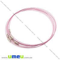 Основа для колье Чокер, Розовая светлая, 44 см, 1 шт (OSN-014309)