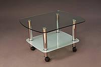 Столик стеклянный 500х400 мм