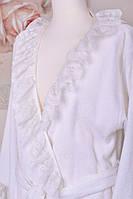 "Банный махровый халат женский ""ТМ"" GUL GULER ""DEFNE"" white 100% хлопок"
