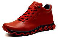 Мужские зимние ботинки Gekon Dynamique 20RTM, красные, кожаные, фото 1