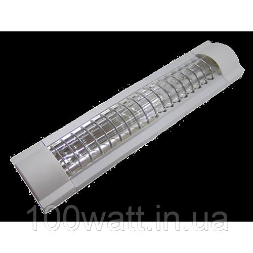 Светильник люминесцентный ZCFEMCW/20W ЛПО 1х18 ЭПРА с решоткой ST291