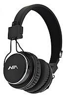 Беспроводные Bluetooth стерео наушники NIA Q8 с МР3 и FM черные (4407) ZP