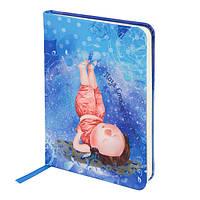 Книга записная А6 Gapchinska Axent 8407-04, 96 листов, клетка, тканевая обложка