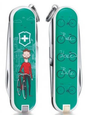 Превосходный складной охотничий нож Victorinox Classic Limited Edition Ride your Bike 06223.L1508