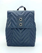 Рюкзак синій міський жіночий повсякденний модний портфель сумка рюкзак синього кольору для ноутбука