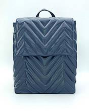 Сумка рюкзак синього кольору жіноча трансформер для ноутбука повсякденний жіночий рюкзак синій портфель