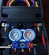 Коллектор 2-х вентильный  R-1234yf / R-134а  c муфтами и шлангами