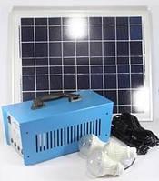 Портативная аккумуляторная система с солнечной батареей  3 подвесные лампочки  GD 8018