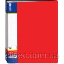 """Папка """"Economix"""" 60 файлов, А4, красная"""
