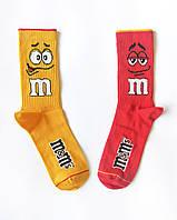 """Носки из высококачественного хлопка с оригинальным принтом """"M&M's"""""""