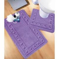 Набор ковриков для ванной комнаты и туалета 60*100 Standart