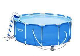 Басейн каркасний круглий Bestway 56462 549х122 см Blue
