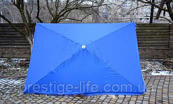Торговый, садовой, пляжный Зонт 2х2 м. Серебренное покрытие. Синий