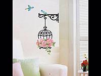 Наклейка на стену, виниловая наклейка цветок 34*68 см.