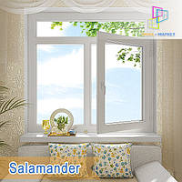 "Окно с фрамугой Salamander eco Streamline 1400x1700 ""Окна Маркет"", фото 1"