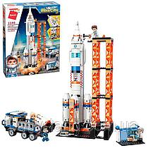 """Конструктор для хлопчика 632 деталі """"Космічна станція"""" Qman 1140"""