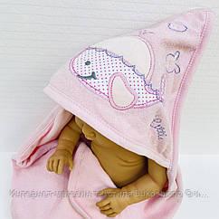Полотенце-уголок махровое Китенок розовый из 100% хлопка, 80*80 см