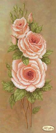"""Рисунок на ткани для вышивания бисером """"Персиковые лепестки"""", фото 2"""