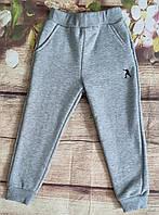 Дитячі спортивні штани для хлопчиків на флісі 9-12 років (сірі) (пр. Туреччина)