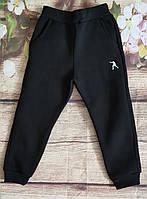 Дитячі спортивні штани для хлопчиків на флісі 13-16 років (чорні) (пр. Туреччина)