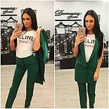 Женский стильный комплект: жилет и брюки в расцветках (+ большие размеры), фото 2