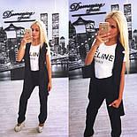 Женский стильный комплект: жилет и брюки в расцветках (+ большие размеры), фото 4