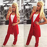 Женский стильный комплект: жилет и брюки в расцветках (+ большие размеры), фото 5