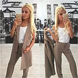 Женский стильный комплект: жилет и брюки в расцветках (+ большие размеры), фото 7