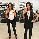 Женский стильный комплект: жилет и брюки в расцветках (+ большие размеры), фото 8