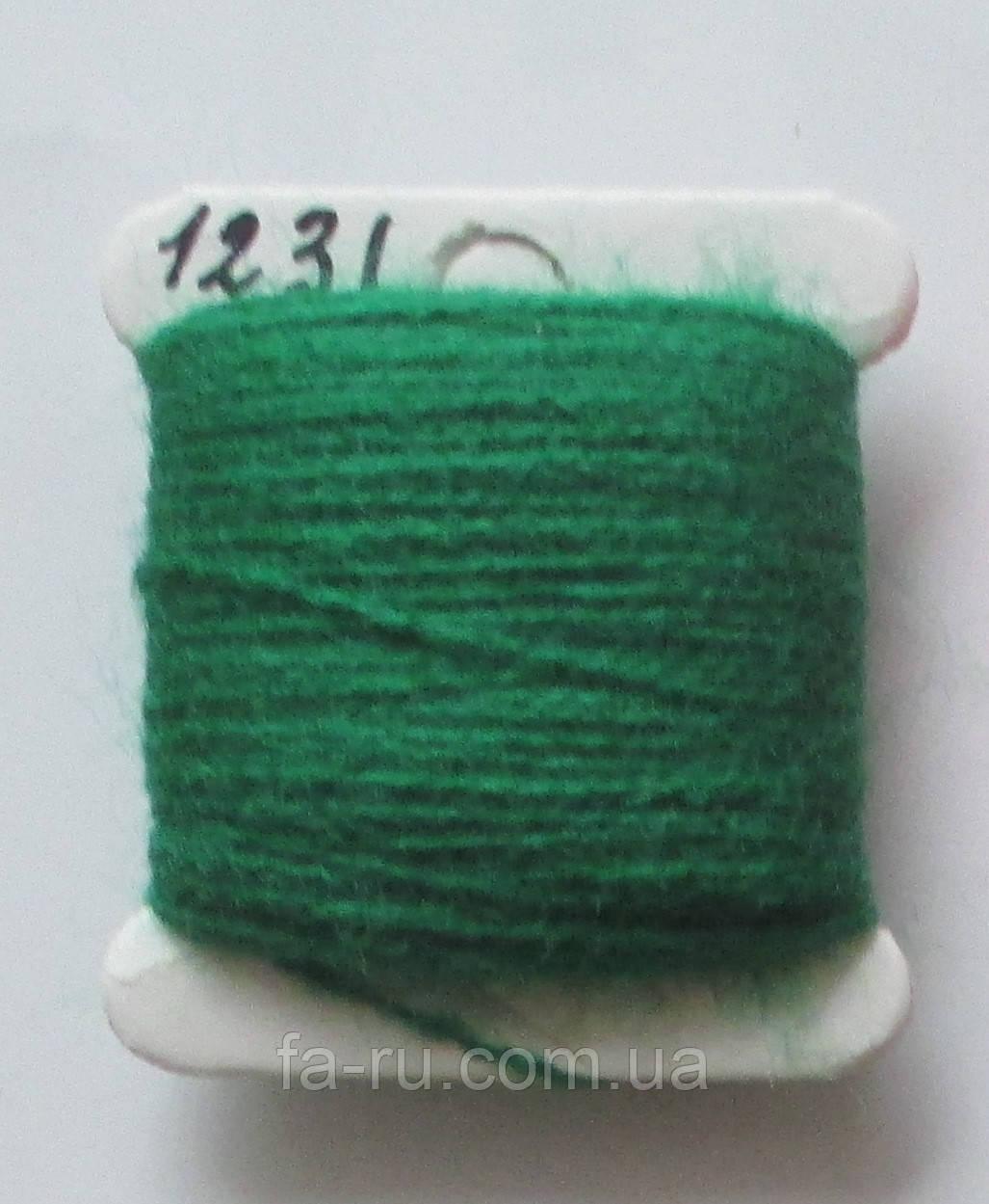 Акрил для вышивки: зелёный травяной