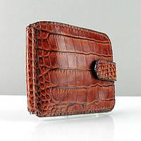 Кошелек мужской кожаный зажим купюр Viladi 014 ручная работа, фото 1