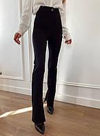 Штани жіночі стильні ідеального крою з внутрішніми розрізами і високою посадкою Bdv253