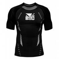Рашгард  с коротким рукавом для MMA  BAD BOY sphere black/grey