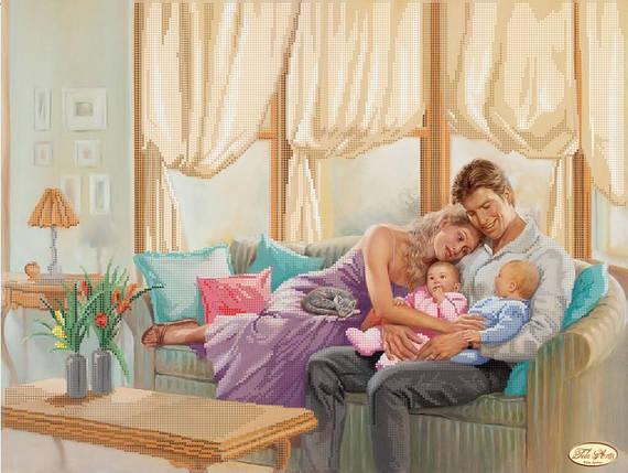 """Рисунок на ткани для вышивания бисером """"Семья"""", фото 2"""