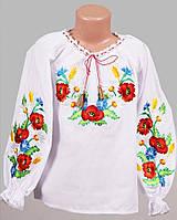 Цветочная вышитая блуза для девочки