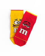 """Короткие носки из высококачественного хлопка с оригинальным принтом """"M&M's"""""""