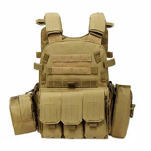 Жилет тактический AOKALI Outdoor А64 Sand армейский разгрузочный
